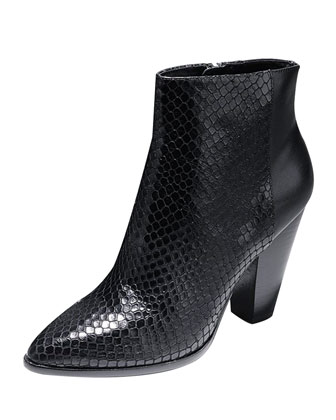 Vestry Snake-Embossed Ankle Boot
