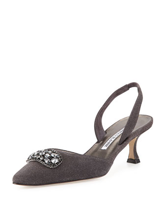 Adela Jewel-Toe Slingback Pump