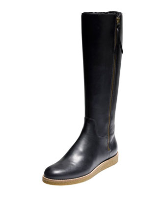 Auden Tall Leather Boot, Black