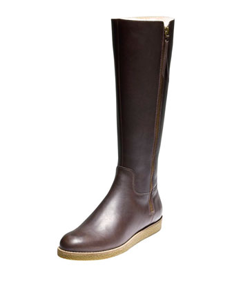 Auden Tall Leather Boot, Chestnut