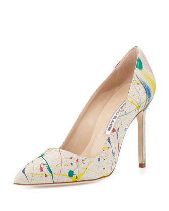 BBMal Splatter Paint Canvas Pump