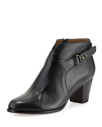 Cynthia Leather Ankle Boot, Black