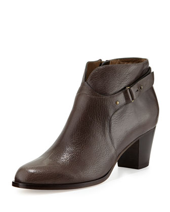 Cynthia Leather Ankle Boot, Graphite