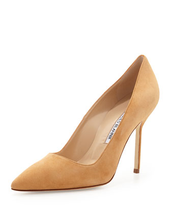 BB Suede 105mm Pump, Beige