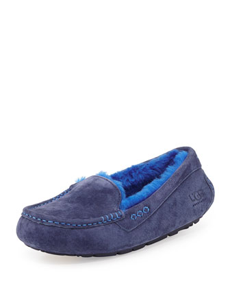 Ansley Moccasin Slipper, Navy