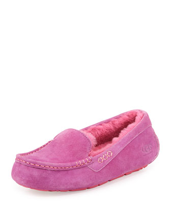 Ansley Moccasin Slipper, Pink