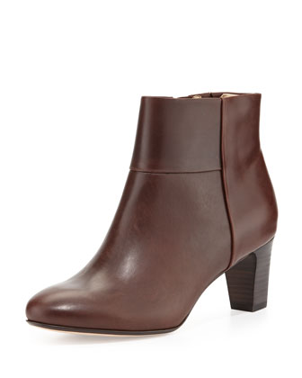 Disa Leather Ankle Bootie, Alice Brown