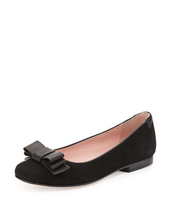 Bettie Bow-Detail Ballet Flat, Black