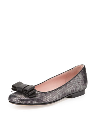 Bettie Bow-Detail Ballet Flat, Anthracite