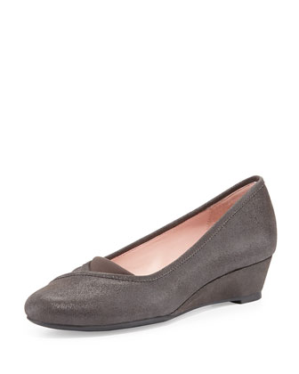 Peta Slip-On Wedge, Grey