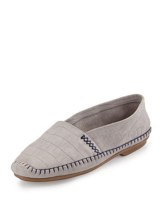 Davies Croc-Stamped Slip-On, Gray