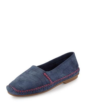 Davies Croc-Stamped Slip-On, Blue