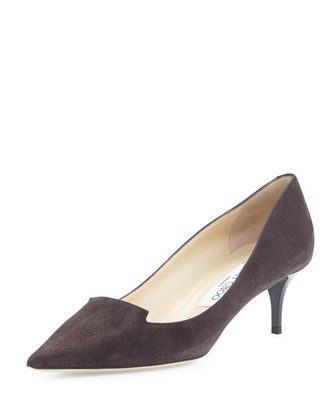 Allure Pointed Suede Loafer Pump, Paloma