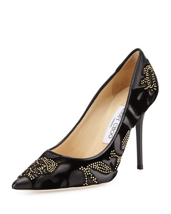 Abel Studded Flocked Pump