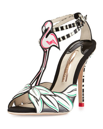 Flamingo Ankle-Wrap Sandal, White