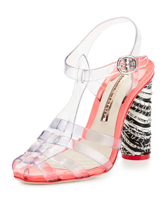 Rosa Jelly Sandal Pump, Crystal Vinyl