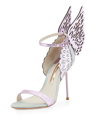Evangeline Angel Wing Sandal, Ice Blue