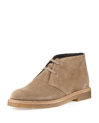 Clay Suede Desert Boot, Taupe