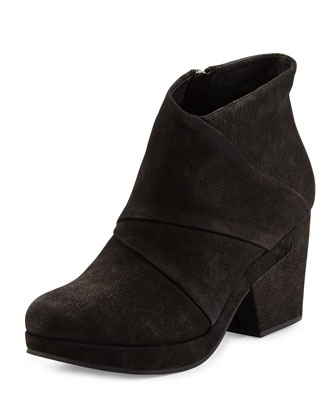 Coax Leather Bootie, Black