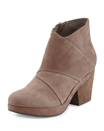 Coax Leather Bootie, Elephant Gray