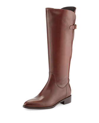 Blondie Leather Riding Boot, Tiziano Brown