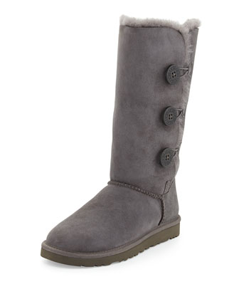 Bailey Button Tall Boot & Monogrammed Bailey Button Tall Boot, Gray