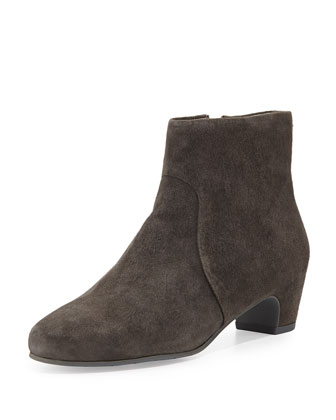Key Suede Ankle Bootie, Ash Grey
