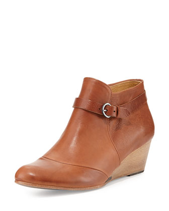 Karoly Wedge Ankle Boot, Camel