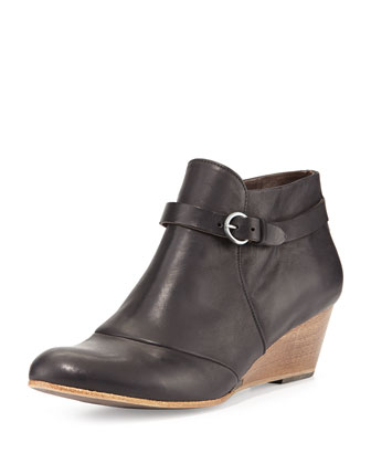 Karoly Wedge Ankle Boot, Black