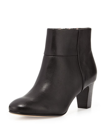 Disa Leather Ankle Bootie, Black