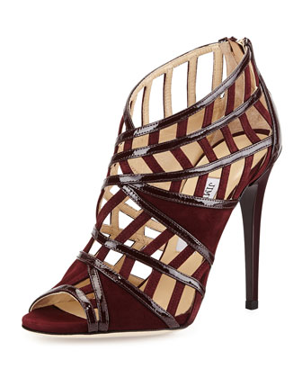 Vector Strappy Peep-Toe Sandal, Mirto