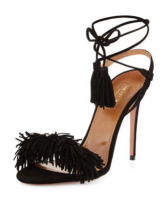 Wild Thing Suede Sandal, Black