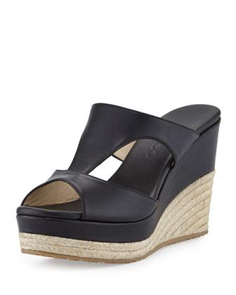 PACPacane T-Strap Wedge Sandal, Black