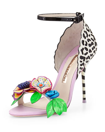 Lilico Floral Jungle Sandal, Black/White/Multi