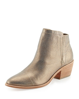 Jodi Metallic Leather Ankle Boot