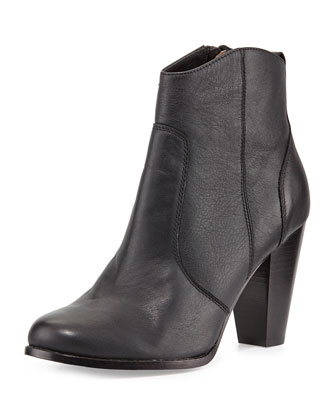 Dalton Leather Ankle Boot, Black