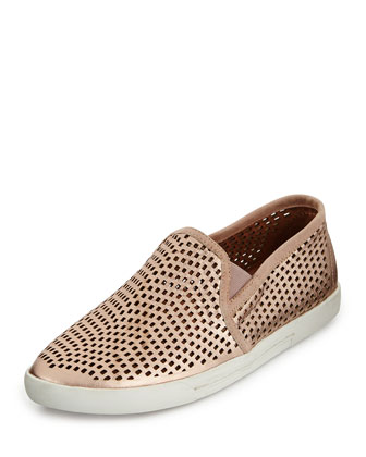 Kidmore Metallic Skate Shoe, Rose Gold