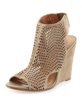 Kelcey Perforated Cage Wedge Heel