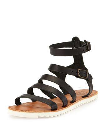 Montezuma Strappy Sandal, Black