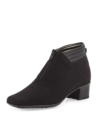 Sarine Microfiber Ankle Boot, Black