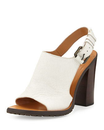 Jemina Leather Sport Sandal, Soft White