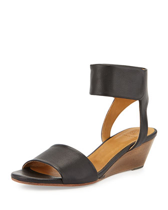 Kerel Leather Demi-Wedge, Black