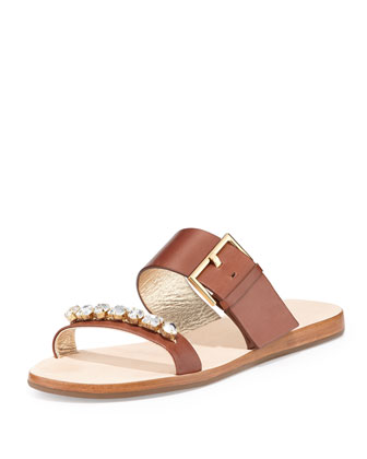 astra crystral-strap slip-on sandal