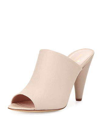 bova peep-toe slide sandal, powder