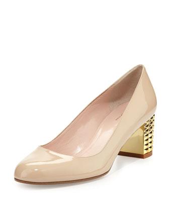 mahina studded-mid-heel pump
