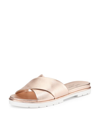 markey crisscross slip-on sandal