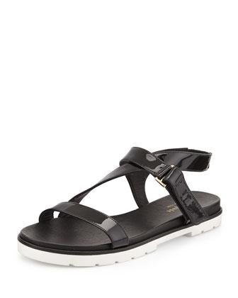 mckee patent sport sandal, black