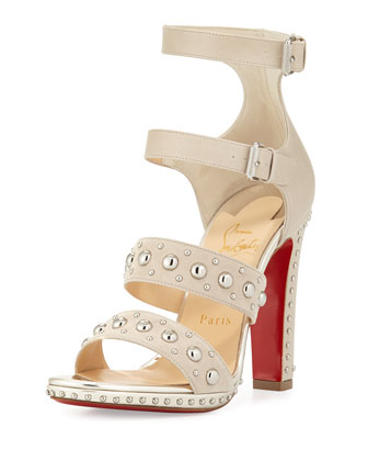 DecoDame Studded Red Sole Sandal, Colombe