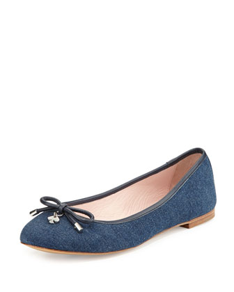 willa denim ballerina flat