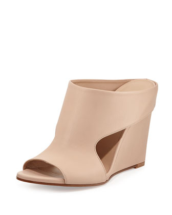 Kaya Leather Wedge Mule